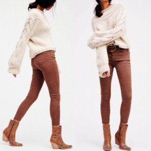 Free People Chocolate Isabel Jacquard Pants - 24